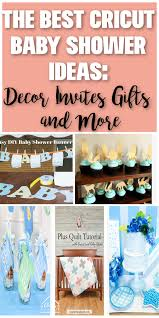 easy cricut baby shower ideas gifts