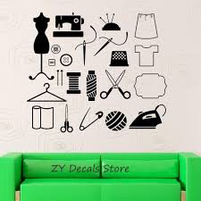 Tailor Atelier Wall Stickers Sewing For Women Wall Decals Removable High Quality Wallpaper Vinyl Art Poster Stickers Wall Stickers Flowers Wall Stickers For Adults From Joystickers 12 66 Dhgate Com