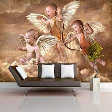 Shop Custom Mural Wallpaper European Style Living Room Bedroom Kids Room Background Wall Decoration Painting Wallpaper Little Angel Online From Best Wall Stickers Murals On Jd Com Global Site Joybuy Com