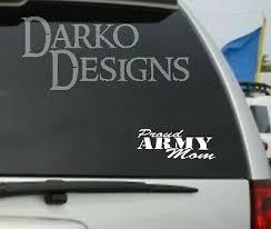 Proud Army Mom Vinyl Car Truck Laptop Decal Ebay