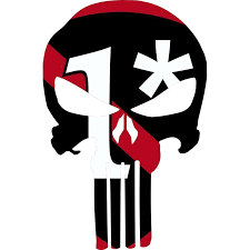 Red Line Flag 1 Punisher Car Decal Aspire Gear