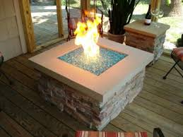 glass rock for the fire pit love this