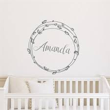 Personalized Wall Decal Name Decal Girls Rustic Nursery Twig Sticker Wall Decals Wall Stickers For Kids Rooms Cute D998 Wall Stickers Aliexpress