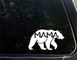 Amazon Com Wall Words Sayings Removable Lettering Car Decal Car Sticker Mama Bear 15cm Die Cut Decal Sticker For Windows Home Kitchen