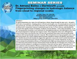 """ATOC at CU-Boulder on Twitter: """"#ATOC alum Adriana Bailey talks  """"Fingerprinting changes in #hydrologic balance from #cloud to regional  scales"""" 6/16 2pm @ncareol @AtmosNews… https://t.co/Dr0LwpJ79p"""""""