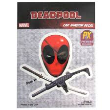 Deadpool Skull And Crossguns Vinyl Decal Previews Exclusive
