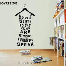 Joyreside Style Is A Way Quotes Wall Decal Words Wall Sticker Dress Vinyl Decal Fashion Home Rooms Decor Interior Design A774 Wall Stickers Aliexpress