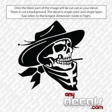 Car Decals Car Stickers Cowboy Skull Car Decal Anydecals Com
