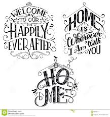 home decor quotes signs set stock vector illustration of