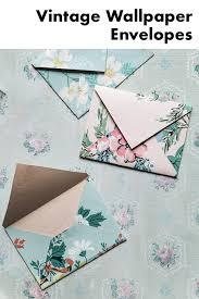 homemade vine wallpaper envelopes