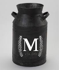 15 Monogram Initial With Name Or Year For Milk Can By Lmcadesigns Old Milk Cans Milk Cans Initials Decal