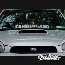 Cambergang Waterproof Auto Car Front Window Windshield Decal Reflective Sticker For Mazda Toyota Bmw Vw Honda Audi Car Styling Geeksticker