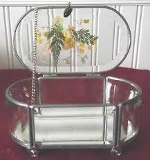 glass jewelry box with pressed flowers