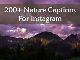 here is our collection of nature captions for instagram