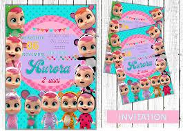 Cry Babies Bebes Llorones Party Invitation En 2020 La Llorona