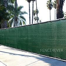 Amazon Com 6 X50 3rd Gen Dark Green Fence Privacy Screen Windscreen Shade Cover Mesh Fabric Aluminum Grommets Home Court Or Construction Garden Outdoor