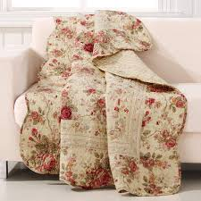 Greenland Home Antique Rose Quilted Patchwork Throw 636047241146