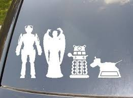 Enemies Of The Doctor Car Sticker Set Of 4 Etsy Sticker Set Doctor Who Timey Wimey Stuff