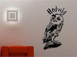 Harry Potter Owl Hedwig Wall Art Sticker Vinyl Quote Kids Film Bedroom Ebay