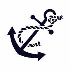 Anchor With Rope Vinyl Car Decal Michigan Decals Michigan Apparel Michigan Clothing