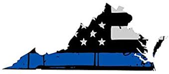 Amazon Com Virginia Tattered Thin Blue Line Us Flag Honoring Our Men Women Of Law Enforcement Car Symbol Sticker Decal Die Cut Vinyl Window Computer Made And Shipped In Usa Automotive