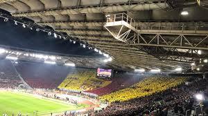 Roma Lazio, le coreografie delle curve dell'Olimpico per il Derby ...