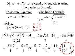 to solve quadratic equations using the