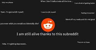 people are turning to subreddits in lieu of traditional counseling