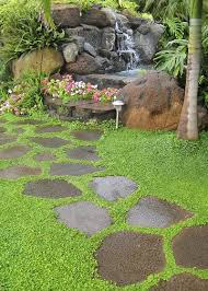 stepping stone and water features