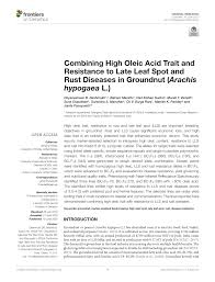 pdf combining high oleic acid trait