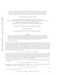 PDF) Solutions Of The Perturbed KDV Equation For Convecting Fluids By  Factorizations