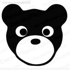 Bear Face Simple Decal Vinyl Decal Sticker Wall Decal Decals Ground