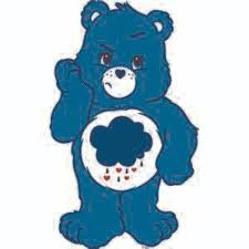 Grumpy Bear Care Bear Cartoons Customized Wall Decal Custom Vinyl Wall Art Personalized Name Baby Girls Boys Kids Bedroom Wall Decal Room Decor Wall Stickers Decoration Size 40x40 Inch