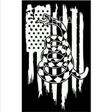 Don T Tread On Me Vinyl Decal American Flag Decal Vinyl Decals Flag Decal