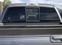 Ford F150 Back Middle Window American Flag Decal 2004 2014 Elevated Auto Styling