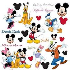 Disney Mickey Mouse 32 Big Peel Stick Wall Decals Pluto Goofy Minnie Stickers Room Decor Walmart Com Walmart Com
