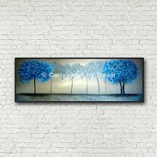 Late Night Blues Unframed Unmounted Blue Trees Landscape Etsy