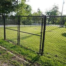China 6 Black Color Yard Guard Chain Link Fence Design Photos Pictures Made In China Com