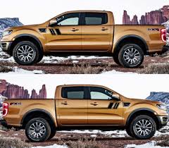 2x Decal Sticker Side Door Stripes For Ford Ranger 2015 2019