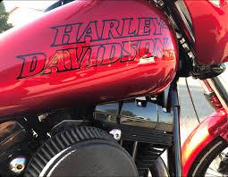 Harley Davidson Outline Gas Tank Decal Set Free Shipping Baum Customs
