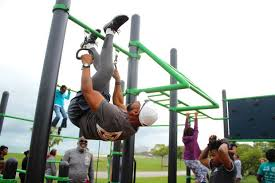 outdoor fitness station opens on