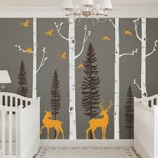Simpleshapes Birch Tree With Birds And Deer Wall Decal Reviews Wayfair