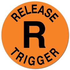 Release Trigger Orange Fluorescent Circle Stickers