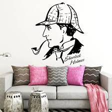 Sherlock Holmes Wall Sticker Baker Street Vinyl Decal Detective Fans Bedroom Living Room Decor Removable Home Decoration Pipe Wall Stickers Aliexpress
