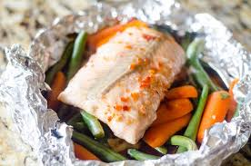 Asian Salmon Foil Pack - This Ole Mom