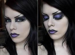 punk rock witch makeup look