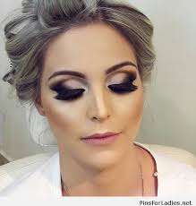 grey hair and glam makeup pins for las