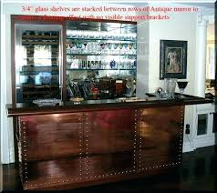 bar shelves mirrored cart shelf glass