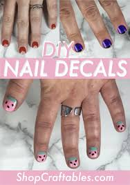 how to make nail decals stencils