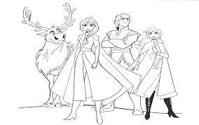Kleurplaat Frozen 2 Anna Elsa Kristoff En Sven 13